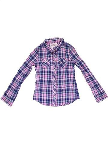 Long sleeve shirt girl H&M purple 8 years winter #30023_1