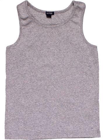 Sleeveless T-shirt girl KIABI gray 4 years summer #30035_1