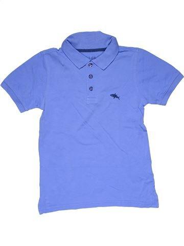 Short sleeve polo shirt boy KIDS purple 10 years summer #30424_1
