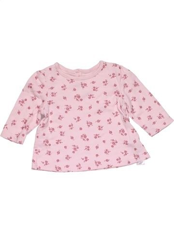 Long sleeve T-shirt girl GEORGE pink 1 month winter #30439_1