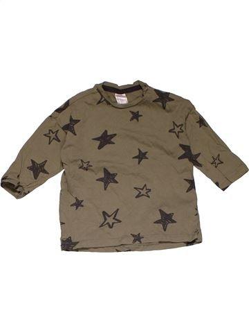 Long sleeve T-shirt girl H&M brown 18 months summer #31114_1