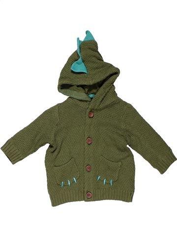 Sweatshirt boy MARKS & SPENCER green 6 months winter #31159_1