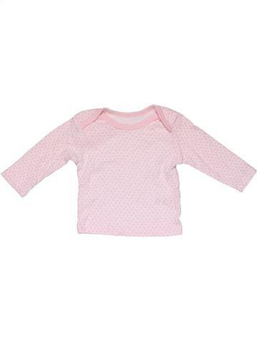 Short sleeve T-shirt girl MATALAN pink 3 months summer #31254_1