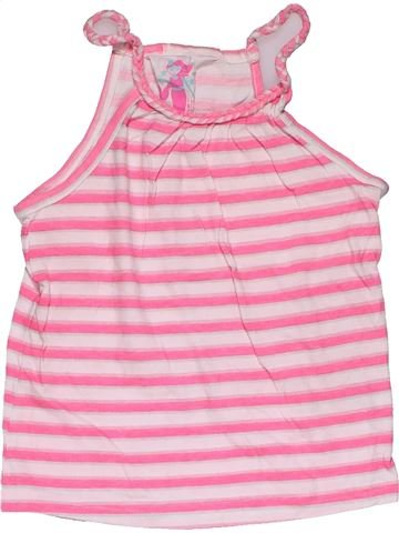 Sleeveless T-shirt girl YOUNG DIMENSION pink 6 years summer #31259_1