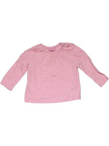 Long sleeve T-shirt girl F&F pink 3 months summer #31266_1
