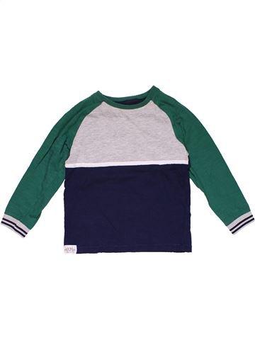 Long sleeve T-shirt boy MARKS & SPENCER blue 4 years summer #31368_1