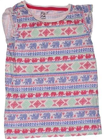 Short sleeve T-shirt girl F&F gray 6 years summer #31445_1