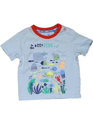 Short sleeve T-shirt boy TU blue 12 months summer #31458_1