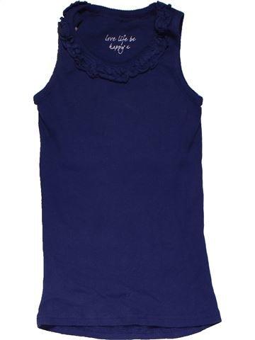 Sleeveless T-shirt girl MATALAN blue 5 years summer #31579_1