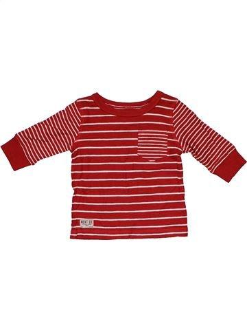 Long sleeve T-shirt boy NEXT pink 6 months winter #31627_1