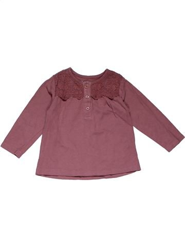 Long sleeve T-shirt girl NUTMEG purple 12 months summer #31696_1