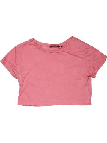 Short sleeve T-shirt girl NEW LOOK pink 11 years summer #31778_1