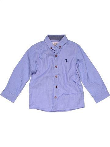 Long sleeve shirt boy NEXT purple 3 years winter #31895_1