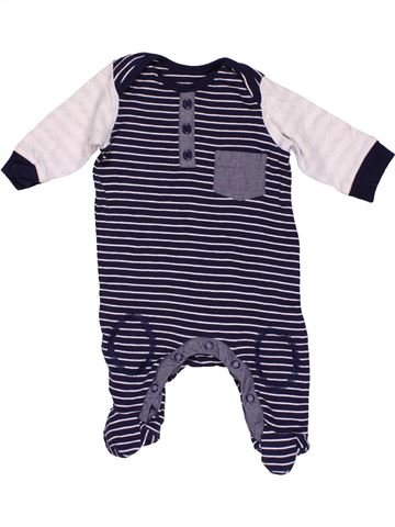Long jumpsuit boy GEORGE white 1 month winter #32324_1