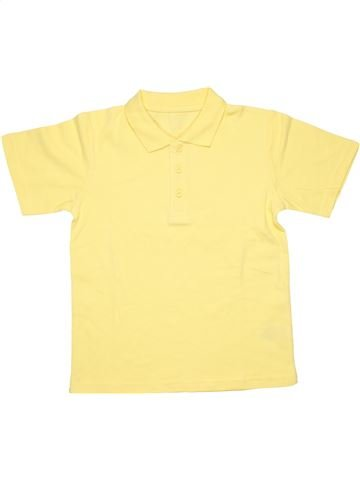 Short sleeve polo shirt unisex SCHOOL LIFE yellow 7 years summer #3457_1
