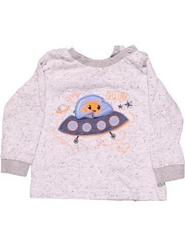 Long sleeve T-shirt boy M&CO pink 12 months winter #3810_1