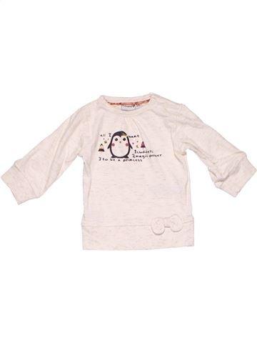 Long sleeve T-shirt girl PRENATAL white 1 month winter #4672_1