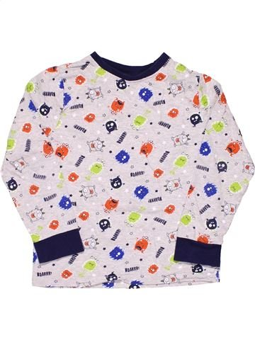 Long sleeve T-shirt unisex F&F KIDS white 7 years winter #5157_1