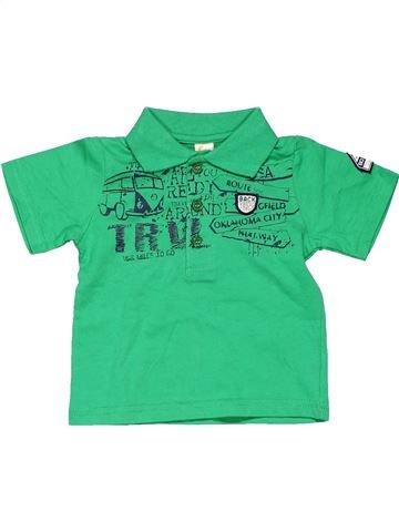 Short sleeve polo shirt boy FRENDZ green 12 months summer #5930_1
