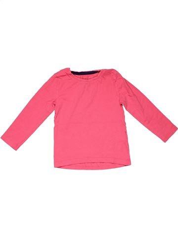 Long sleeve T-shirt unisex BLUEZOO pink 3 years winter #6042_1