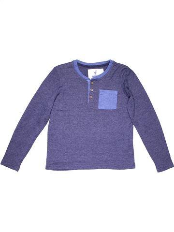 Long sleeve polo shirt boy PEPPERTS blue 10 years winter #7073_1
