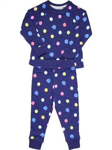 2 pieces Pyjama girl MATALAN purple 3 years winter #8048_1