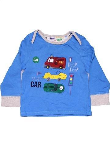 Long sleeve blouse boy MINIMAN blue 18 months winter #8784_1