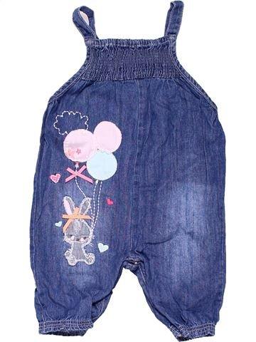Dungaree girl BLUEZOO blue 6 months summer #994_1